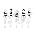 set female characters vector image