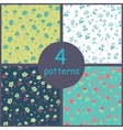 Set of floral seamles patterns vector image