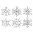 snowflake set 2 vector image vector image