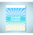 Summer rays holiday vintage on light sea report vector image vector image