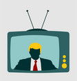 television set with an reporter vector image vector image