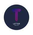 the letter t latin alphabet display vector image vector image