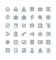 thin line icons set with real estate vector image vector image