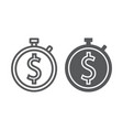 time is money line and glyph icon finance vector image vector image