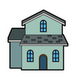 traditional house swiss architecture style vector image vector image