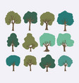 trees forest set collection vector image