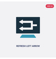 two color refresh left arrow icon from user vector image vector image