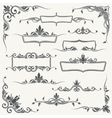 vintage frames corners and dividers vector image vector image