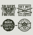 vintage military and army emblems vector image