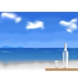 vodka on the beach vector image vector image