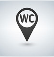 wc toilet location icon filled flat sign solid vector image vector image