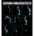 Web lightning animation A strike to the vector image