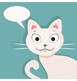 White cat Flat vector image