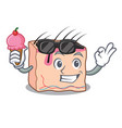 with ice cream skin character cartoon style vector image vector image