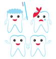 teeth characters vector image