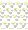 kids bears pattern vector image