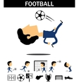 Football man vector image