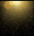 abstract gold bokeh with black background glitter vector image vector image