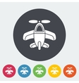 Airplane toy icon vector image