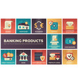 banking products - set of flat design infographics vector image vector image