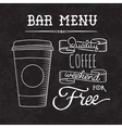 Bar menu of coffee proposal vector image vector image