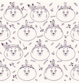 bear background seamless vector image