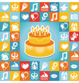 birthday and party icons and signs vector image