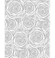 black and white seamless floral texture with vector image vector image