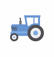 blue tractor icon vector image