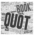 Book Review The Covenant with Black America text vector image vector image
