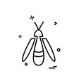 bug fly icon design vector image