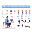 businessman front view animated flat character vector image