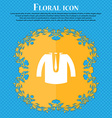 casual jacket icon sign Floral flat design on a vector image vector image