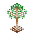 celtic tree life simple green weaved ornament vector image