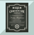 certificate appreciation frame template vector image vector image