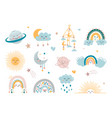 children decorative elements vector image