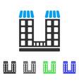 company buildings flat icon vector image vector image