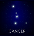 constellation cancer zodiac sign astrology and vector image vector image
