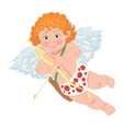 Cupid character Template for greeting card vector image vector image
