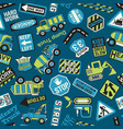 cute heavy equipment machinery road construction vector image