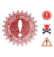 danger trends stamp with dirty texture vector image vector image