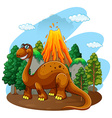Dinosaur living in the jungle vector image vector image