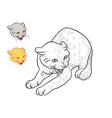 Drawing of threaten cat vector image vector image