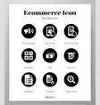 ecommerce icons rounded pack vector image