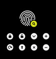 fingerprint scaner icons set symbol for graphic vector image