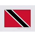 Flag of Trinidad and Tobago Aspect Ratio 2 to 3 vector image vector image