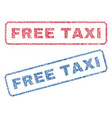 free taxi textile stamps vector image vector image