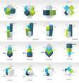 geometry cube infographic template vector image vector image