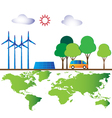 Green energy for world vector image