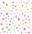 Hand drawn heart shapes pattern vector image vector image